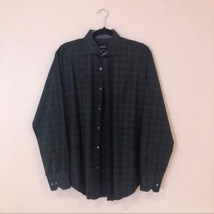 Bugatchi Men's Button Down Plaid Shirt